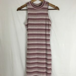 Charlotte Russe Sleeveless Pink Striped Pencil Dre